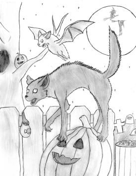 Halloween drawing-Zoe