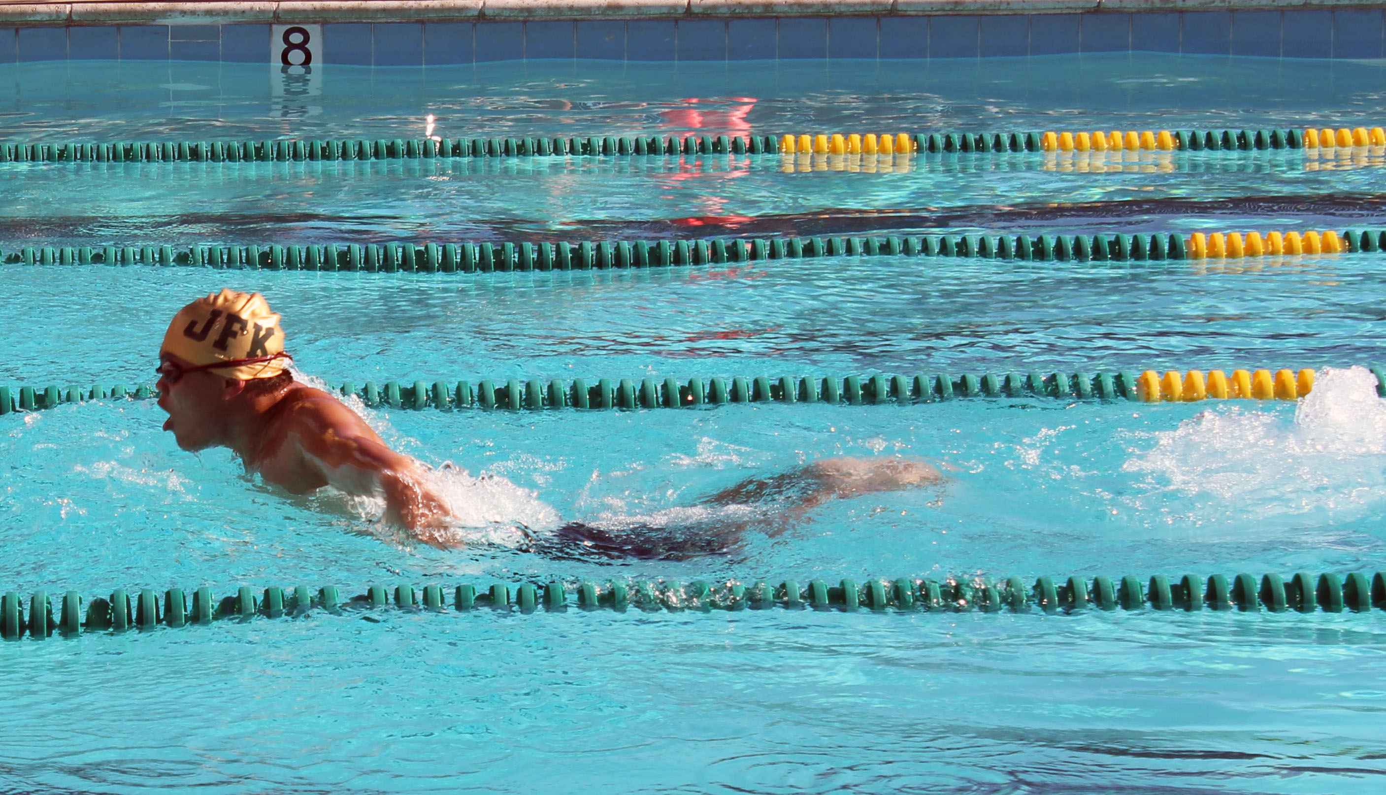 kennedy swimmers support one another the kennedy clarion