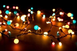 Glowing lights in the dark