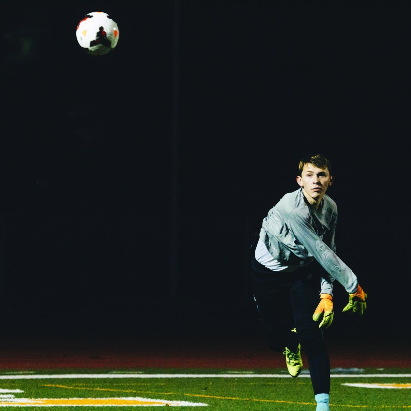 Kennedy goalie, Sam Martinez (photo by Keegan Morris)