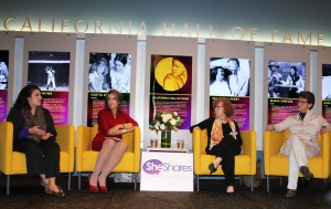 Panelists (L-R) Melanie Mason, Maria Cardona, Debra Saunders, and Karen Breslau (photo by Matiana Tepa)