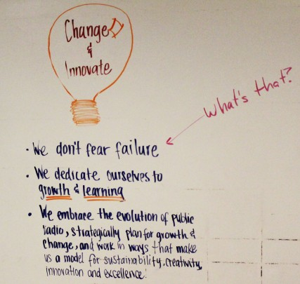 One of CPR's many, inspirational message boards made to keep the staff focused and productive.