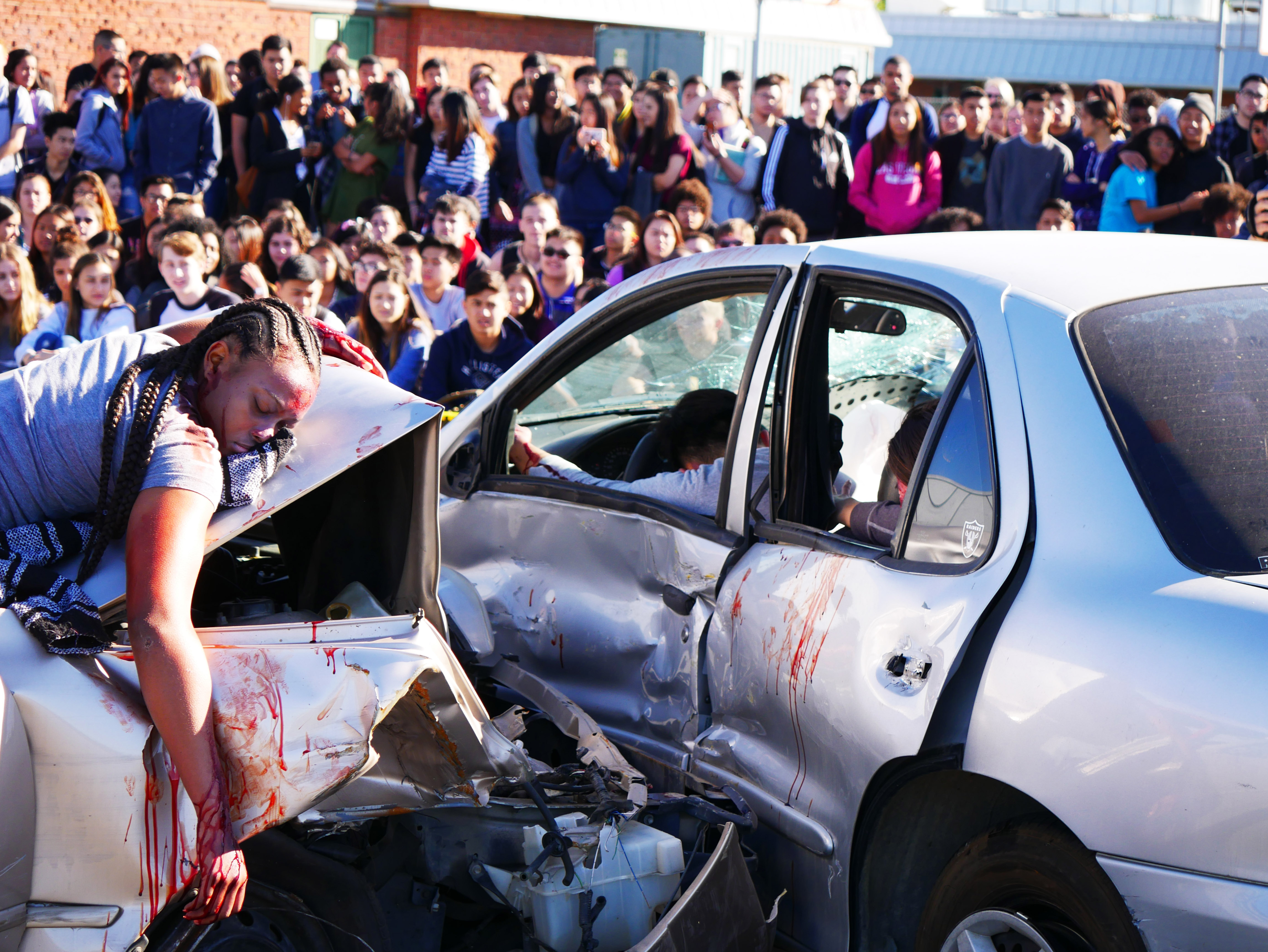 Uncategorized pictures of car accidents bad car - Clarion Staff Photo Taken During Mock Accident Event On April 3 2017 On John F Kennedy High School Campus