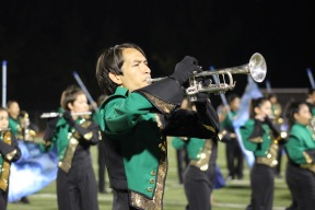 JFK Band and Color Guard perform during Homecoming. Clarion staff photo