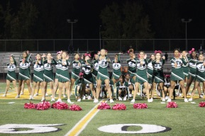 Kennedy Cheer Squad performs during Homecoming Halftime event. Clarion staff photo.