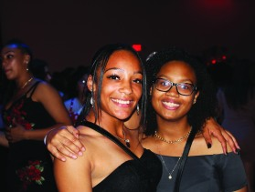 Sophia Lacey (10) pictured with a guest at Homecoming Dance. Photo by Makayla Smith