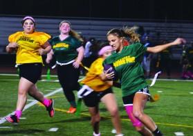 Emma Holm eluding Senior opponents. Photo by Micah Manugo