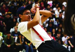 Friday Rally dancer Chris Jeong-Marin. Photo by Bruce Tran