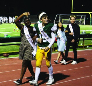Senior Royalty: Makenzie Cross, Aidan Young, Sareth Silvestre, Christopher Ruiz. Photo by Clarion Staff