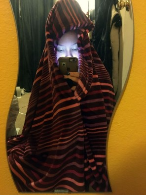"""1-SELF PORTRAIT by Karissa Jones. """"My colorful blanket and favorite place to set around and do nothing."""""""