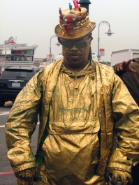 """11-SOMETHING GOLD by Makayla Smith """"As I explored San Francisco, I spotted a random man spray painted gold. I captured him dancing."""""""