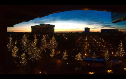 "12-SUNSET by Karissa Jones ""An amazing view of the LA sky before the sun goes dark and Disney lights take over the night."""