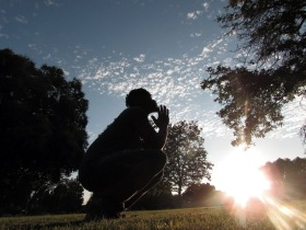 "15-SILHOUTTE by Makayla Smith ""At Ellsworth C Zacharias Park with my brother Travelle. Capturing him in silhoutte while the sun was setting."