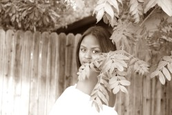 """30-SELF-PORTRAIT by Makayla Smith """"I posed near Cabrillo Park in my own photo shoot."""""""