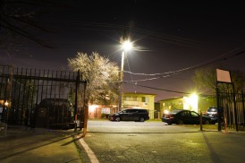 "5-AFTER DARK-Sarif Morningstar. ""I took this photo on in front of my apartment. The street was dimly lit but I adjusted my camera setting to be able to detect it more clearly. The photo really draws out the atmosphere of my neighborhood."""