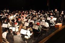 The Kennedy band and color guard has over 140 students enrolled, the largest band program in the school district. (Photo by Sarif Morningstar)