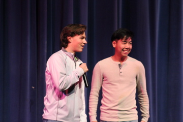 Event MC's Grant Wills and Blake Yuyama told many puns and jokes between acts.