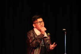 Touzong Thao passionately sings his favorite Adele song.