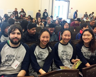 Pictured (L to R) Charles Thorp-Barbier, Cynthia He, Charlotte He, Tiffany Zhang