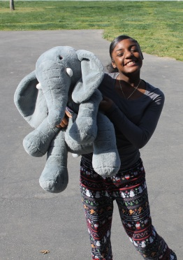 "Ron'nay (Class of 2023) and friend pose on ""Lazy Day"" during the first day of ""Music Madness"" Spirit Week, March 9, 2020. The spirit day is named for Bruno Mars's ""The Lazy Song,"" released in 2010. Photo by Clarion Staff. 3rd period Thao"