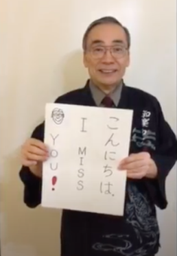 Kennedy Japanese teacher Tadashi Suzuki sends a message to students as part of the Kennedy's staff video greeting, released on April 17, 2020.